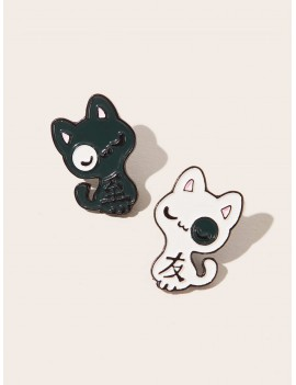2pcs Cat Design Brooches