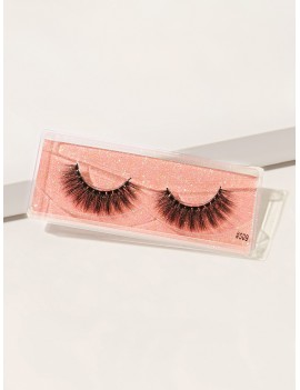 1pair Natural 3D Thick Fake Eyelashes