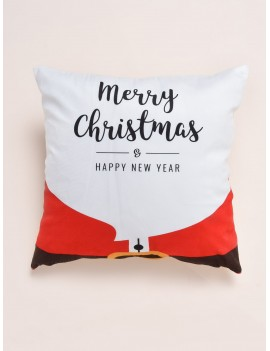 1pc Christmas Letter Graphic Cushion Cover