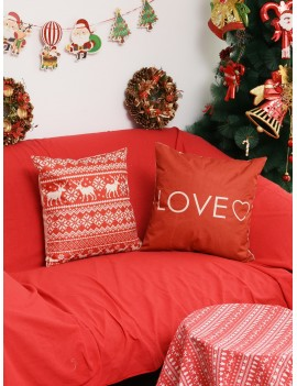1pc Christmas Pattern Cushion Cover