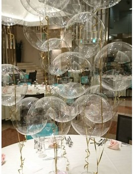 10 Inch Clear Balloon 20pcs With Balloon Rope 2rolls