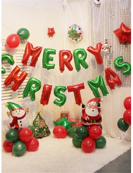 14pcs Letter Merry Christmas Balloon