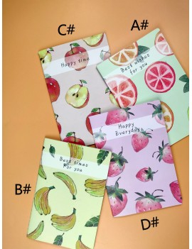 1pack Fruit Print Cover Notebook
