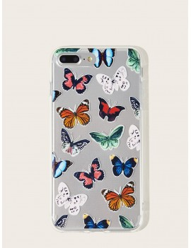 Butterfly Pattern Transparent iPhone Case