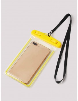 Contrast Trim Clear Phone Waterproof Pouch Bag