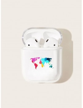 Colorful Map Pattern Airpods Box Protector