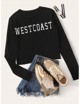 Letter Graphic Long Sleeve Tee