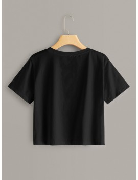 Letter & Figure Graphic Short Sleeve Tee