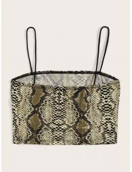 Snakeskin Print Cami Top