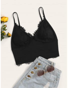 Lace Trim Bralette Top