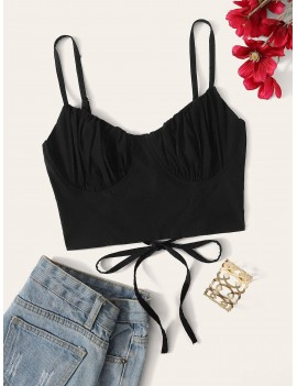 Lace Up Back Cami Top
